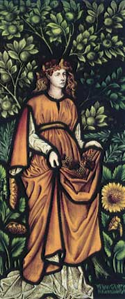 Picture of Cragside stained glass: Autumn by William Morris