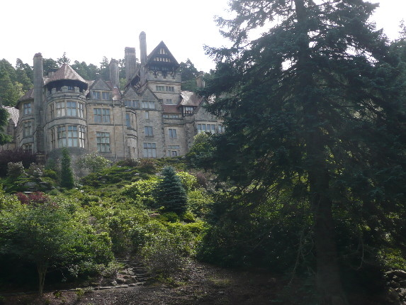 Cragside House and rock garden