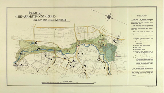 map of Armstrong Park 1884